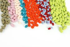 Free Colorful Pills Royalty Free Stock Photos - 18287348