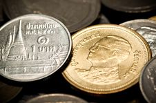 Free Thai Baht Coin Royalty Free Stock Photography - 18287657