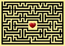Free Conceptual Of Love Maze Royalty Free Stock Image - 18287706