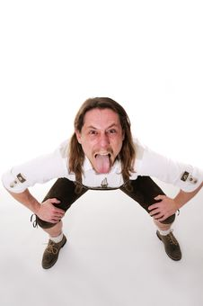 Free Crazy Bavarian Man Stock Photo - 18287930