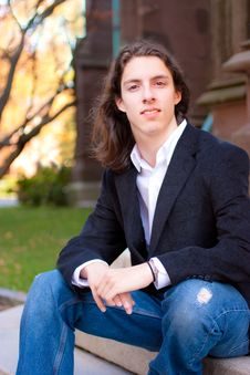 Free Young Man With Long Hair Royalty Free Stock Photos - 18288538