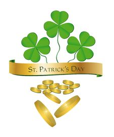 Free St. Patrick S Day Shamrock Money Stock Photos - 18288573