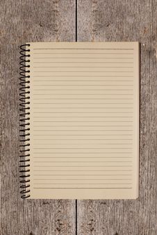 Vintage Notebook On Wood Background Royalty Free Stock Images
