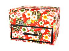 Free Red Japan Casket Isolated Royalty Free Stock Photography - 18288747