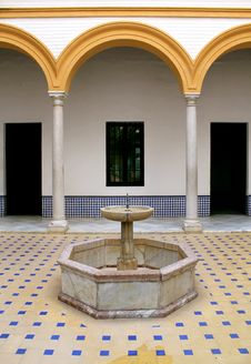 Real Alcazar Moorish Palace In Seville Royalty Free Stock Images