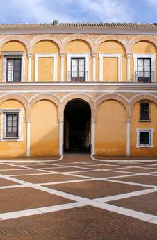 Free Real Alcazar Moorish Palace In Seville Stock Images - 18289154