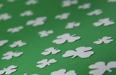 Free Shamrock Pattern Royalty Free Stock Photography - 18289197