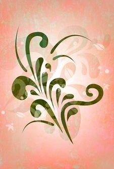 Floral Raster Grunge Background Stock Images