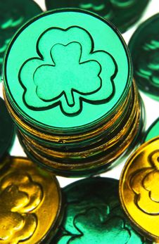 Free St Patricks Day Coins Stock Photos - 18289493