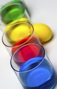 Free Dyeing Easter Eggs Royalty Free Stock Photo - 18289765
