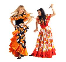 Free Two Agressive Woman In Gypsy Costume Royalty Free Stock Photos - 18289998