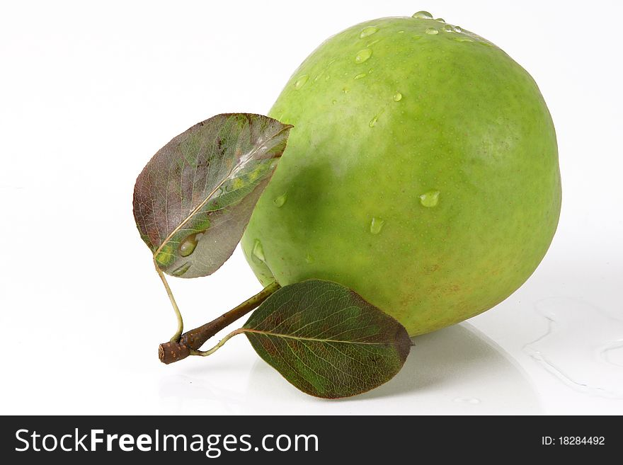 Colorful green pear