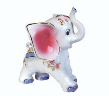 Porcelain Elephant Statuette Stock Images