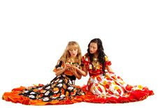 Two Gypsy Woman Make A Fortune-telling Royalty Free Stock Photography