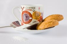 Free Coffee Cup And Biscuit Stock Photography - 18290252