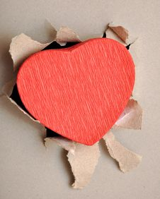 Free Torn Paper Heart Royalty Free Stock Photo - 18290365