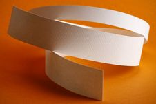 Free White Round Paper Strips On Orange Background Royalty Free Stock Images - 18290769