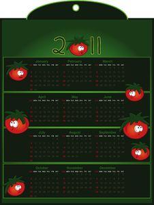 Free Calendar 2011 Tomato Green Stock Images - 18291054