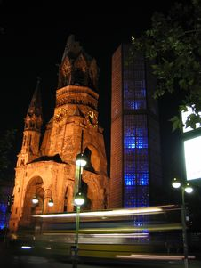 Kaiser Wilhelm Memorial Church Royalty Free Stock Photography