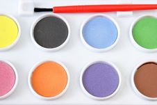 Free Watercolor Paint Set Royalty Free Stock Image - 18291826