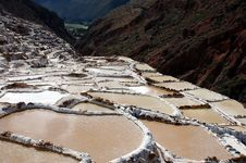 Maras Salt Mine Royalty Free Stock Photography