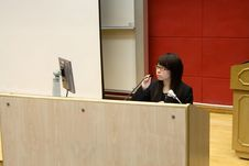 Asian Business Woman Doing Presentation In Office Stock Photos
