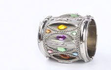 Free Indian Traditional Silver Bangle Stock Images - 18293244