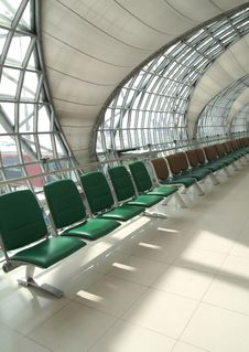 Free Waiting Room, Place In Airport, Perspective View Stock Photos - 18293673