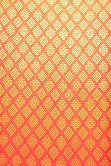 Free Thai Lanna Silk Pattern Texture Stock Photography - 18294052