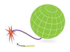 Free Earth Globe And Firing Cord Royalty Free Stock Images - 18294399
