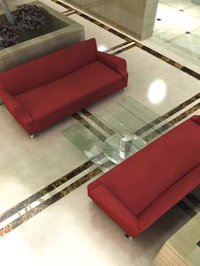 Free Modern Sofa 3D Rendering Stock Photo - 18294660