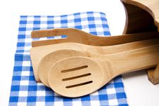 Free Cook Spoon With Tablecloth Stock Photo - 18294710
