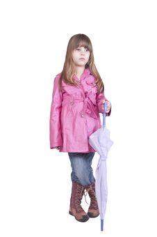 Girl Posing With Umbrella Royalty Free Stock Photo