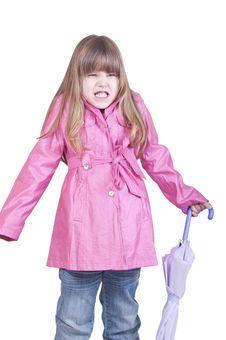Girl Posing With Umbrella Royalty Free Stock Photos