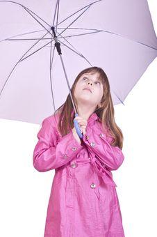 Girl Posing With Umbrella Stock Photography
