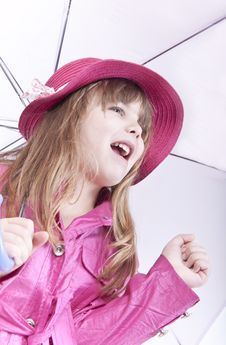 Girl Posing With Umbrella Royalty Free Stock Images