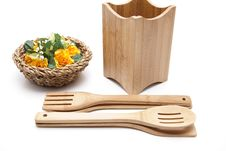 Free Cook Spoon Set With Flower Royalty Free Stock Image - 18295006