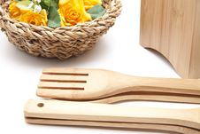 Free Cook Spoon With Flower Stock Photos - 18295013