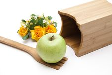 Free Apple Onto Cook Spoons Royalty Free Stock Image - 18295056