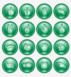 Green Finger Button Arm Icon Royalty Free Stock Photo