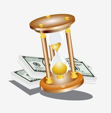 Sand Clock Time Money Dollar Royalty Free Stock Photos