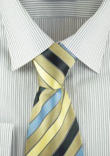 Free Shirt With Striped Silk Necktie Stock Photo - 18295800
