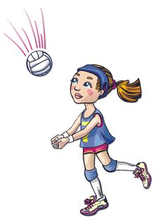 Free Volleyball Girl Athlete Stock Photos - 18296173