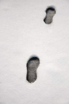 Free Footprints In The Snow Stock Photography - 18296212