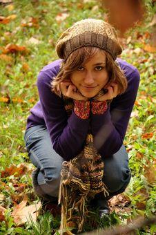 Free Autumn Pretty Girl Royalty Free Stock Photos - 18296458