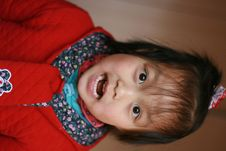 Asia Girl Making Scary Face Royalty Free Stock Photography