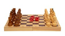 The Chess And Dice Royalty Free Stock Image
