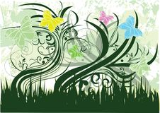 Free Butterfly And Grass Royalty Free Stock Images - 18297199