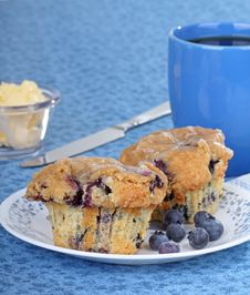 Free Blueberry Muffins Royalty Free Stock Photography - 18297297