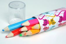Free Colored Pencils Stock Photography - 18297532